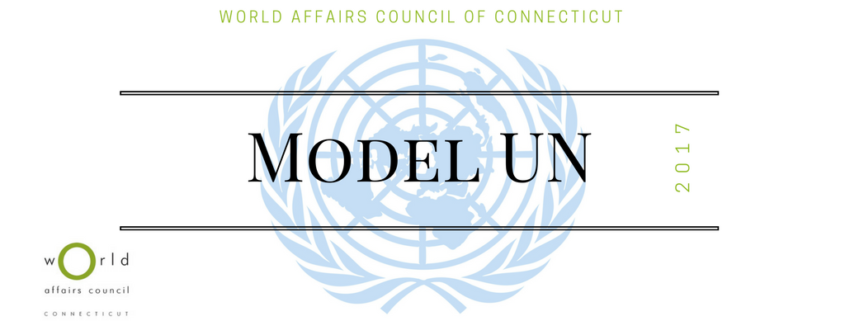 Model United Nations Conference 2017 World Affairs Council Of